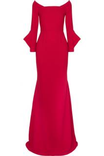 Roland Mouret Red Stretch Crepe Coleman Gown