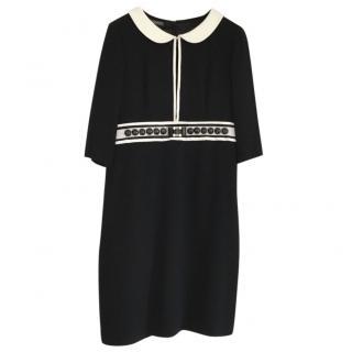 Alberta Ferretti Black jewelled Dress