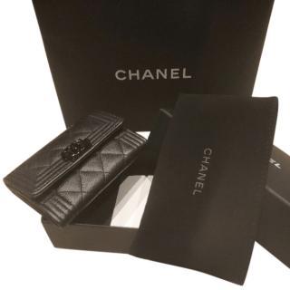 Chanel So Black Card Holder