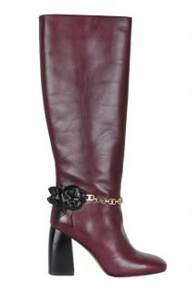 Tory Burch knee high leather boots