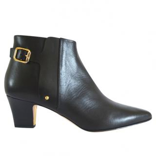 Rupert Sanderson Shannon Black Leather Ankle Boots