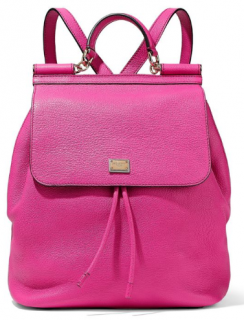 Dolce & Gabbana Pink Leather Sicily Backpack