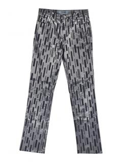 Versace Jeans Couture abstract print trousers