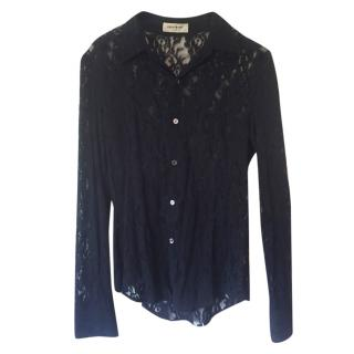 Equipment Black Lace Shirt