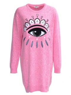 Kenzo pink eye jumper dress