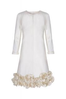Suzannah Jean Decorative Shift Cream UK size 12 RRP �4,000