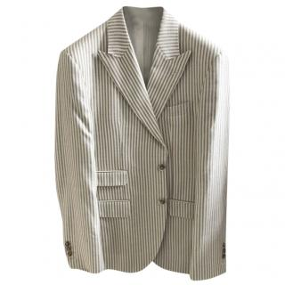 Hackett Mayfair Blue Grey Striped Blazer
