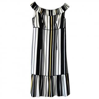 Prada off-the-shoulder black & white dress