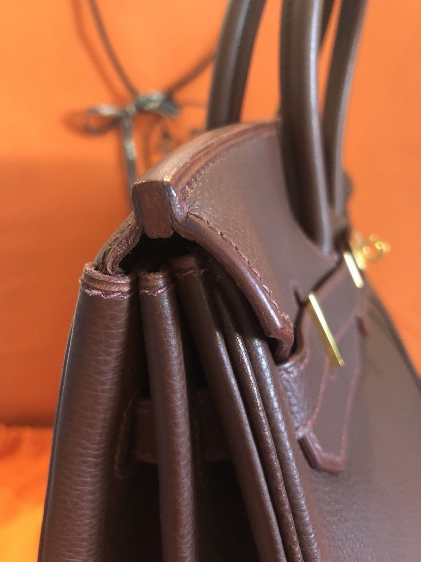 Hermes Togo Leather Havana Brown 35cm Birkin Bag. 26. 12345678910 3ebf1576aefac