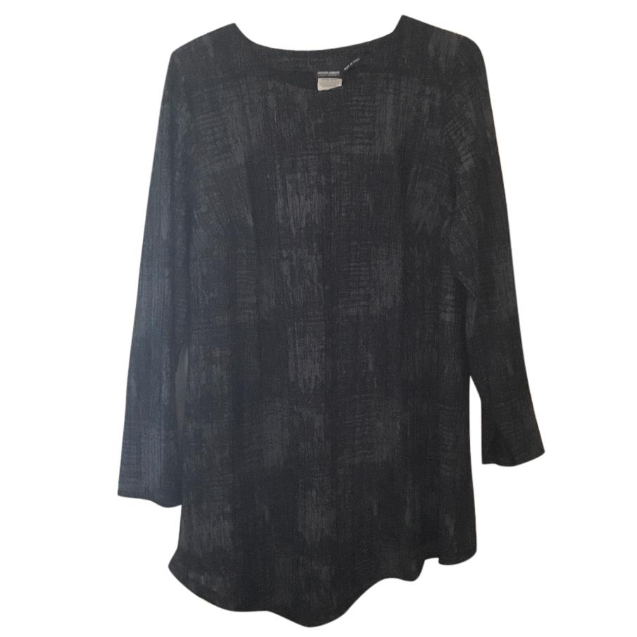 Giorgio Armani charcoal tunic dress, Italian size 48
