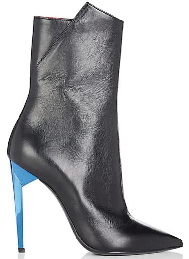 Saint Laurent Freja Leather Ankle Boots