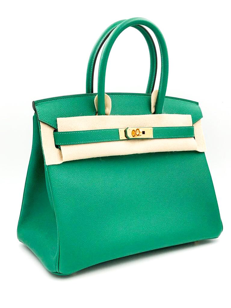 e20f6926b8ba Hermes Vert Vertigo Epsom Leather 30cm Birkin Bag | HEWI London
