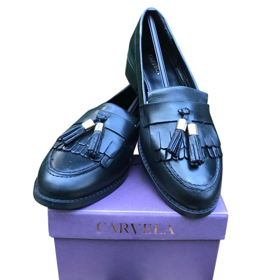 Carvela Kurt Geiger Manor Ladies Tassel Loafer Black Leather