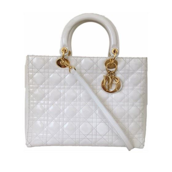 88157bc8a7 Christian Dior Large White Lady Dior Bag | HEWI London
