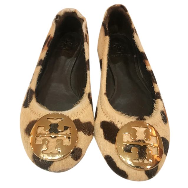 Tory Burch girl's pony skin leopard print shoes