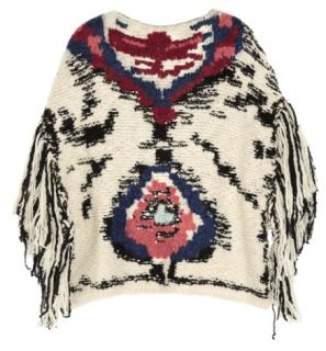 Isabel Marant Etoile Shanon Jacquard-Knit Wool-Blend Poncho