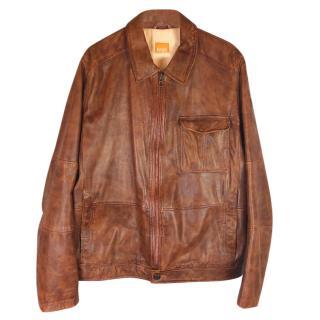 Boss Hugo Boss Jendrix Lamb Leather Biker Jacket