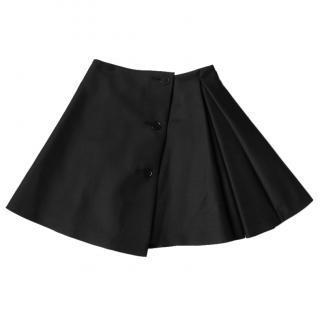 Dior Black Button Trim Mini Full Skater Skirt