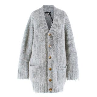 R13 Merino Wool & Mohair-blend Oversized Cardigan