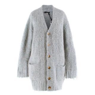 R13 Merino Wool & Mohair-blend Oversized Cardigan