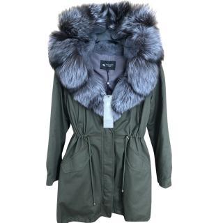 Bespoke Fox & Rabbit Fur Lined Hooded Jacket