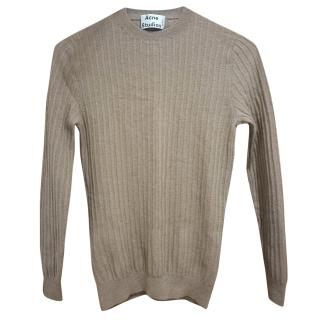 Acne Studios fitted knit wool jumper