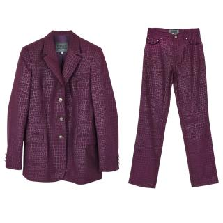 Versace Jeans Couture animal skin effect single breasted suit