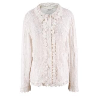 Caroline Charles Cotton & Lace Detail Blouse