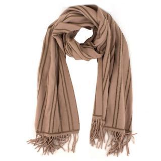 Bespoke Camel Wool-blend Oversized Scarf