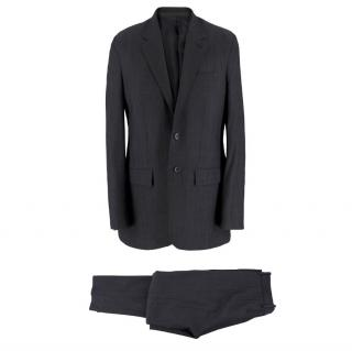 Balenciaga Grey Single Breasted Wool Suit