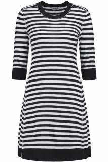 Sonia Sonia Rykiel black and white striped wool dress