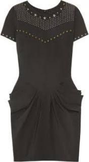 Isabel Marant Star Studded Charcoal Grey Dress