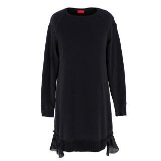 Undercover Black Sweatshirt Frilled hem Dress/Tunic