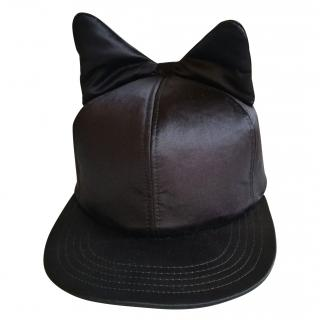 Federica Moretti silk padded bow hat