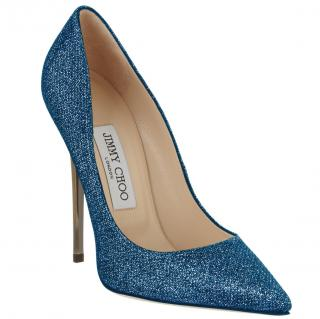 Jimmy Choo Ocean Lame Glitter Anouk Pumps