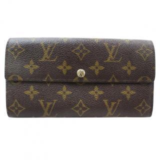 Louis Vuitton Portefeuille Sarah Brown Monogram Long Wallet
