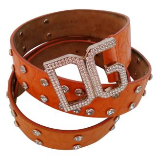 Dolce & Gabbana Swarovski Embellished Leather Belt