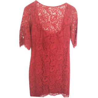 Mikael Aghal Lace Claret Dress