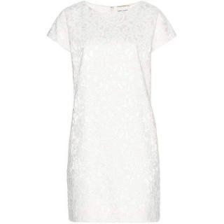 Saint Laurent runway white lace shift dress