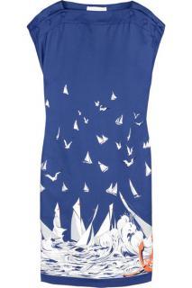 Stella McCartney Sailboat printed silk dress