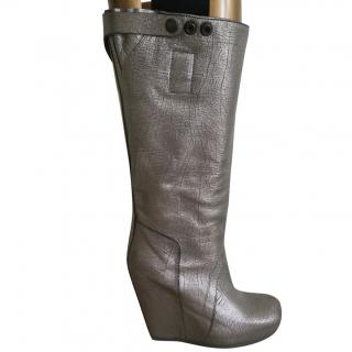Rick Owens Ladies Silver Boots