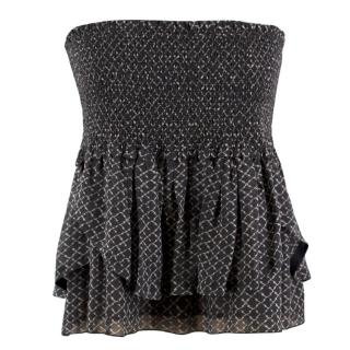 Isabel Marant Silk Ruffled Tube Top