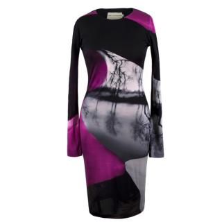 Mary Katrantzou Silk Abstract Print Dress