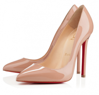 Christian Louboutin Nude Pigalle 120 Patent Pumps