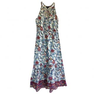 J Crew printed halterneck maxi dress