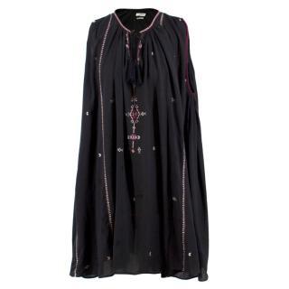 Isabel Marant Etoile Embroidered Cape Dress