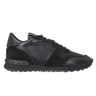 Valentino Men's Black Camo Runners
