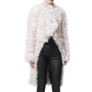 JW Anderson Cream Shearling Tails Coat
