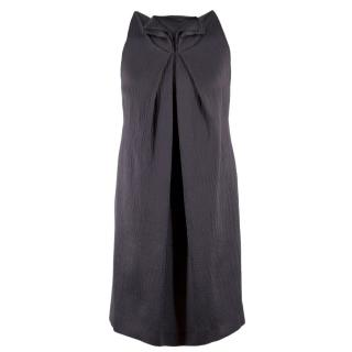 Roland Mouret Silk & Wool-blend Grey Textured Shift Dress