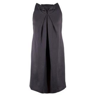 Roland Mouret Silk & Wool-blend Grey Textured Shift Dress
